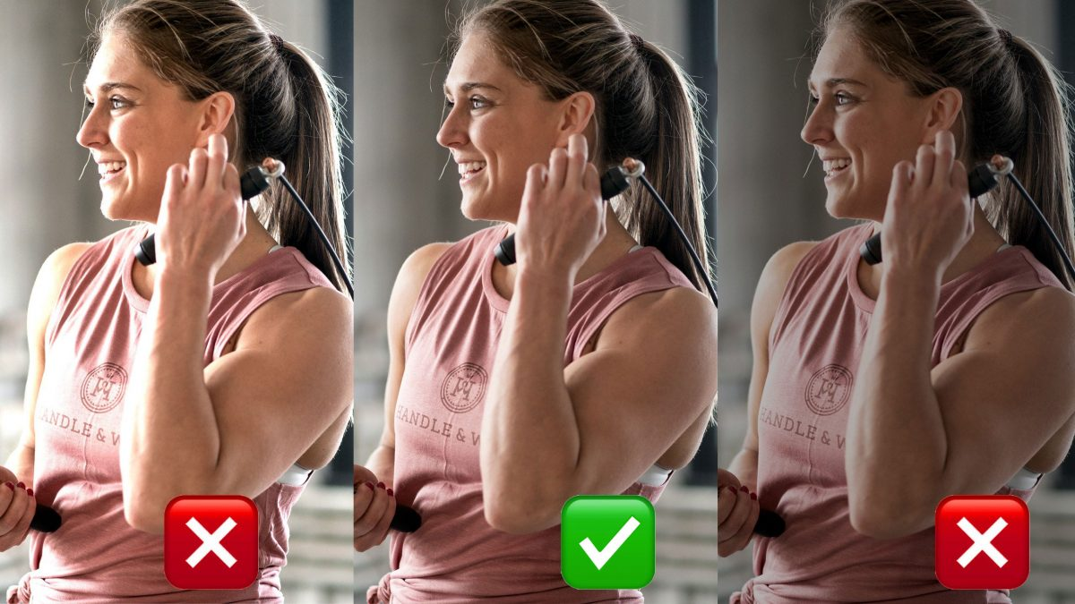 Before after female CrossFit athlete smiling underexposed