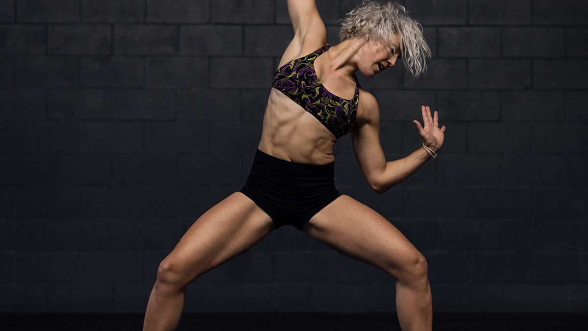 Female dancing Buti Yoga
