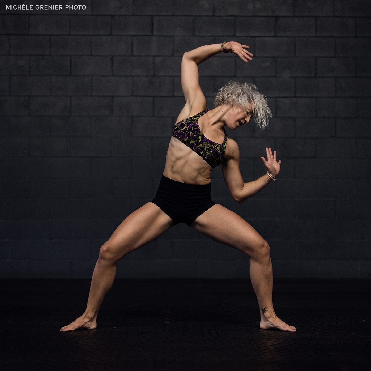 Female dancing Buti Yoga
