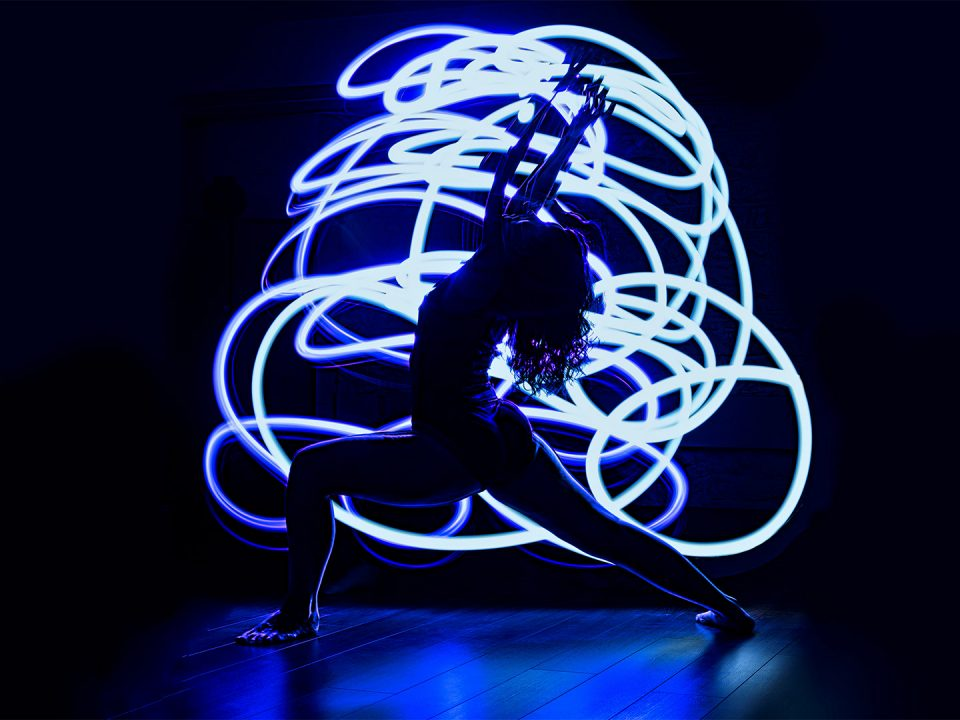 Long exposure dancing photography light painting