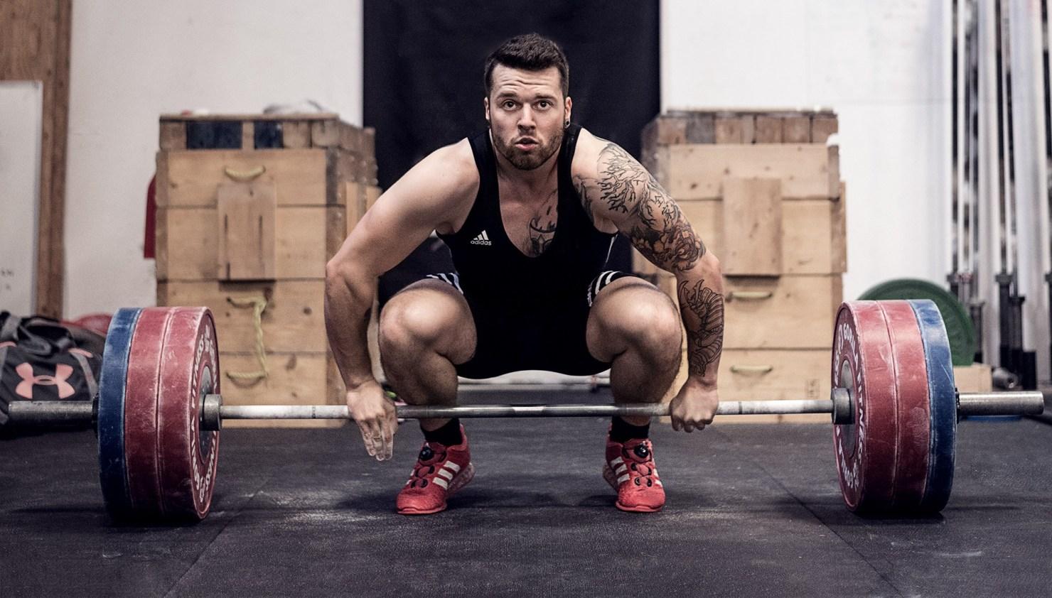 Un des meilleurs athlètes d'haltérophilie du Québec Maxim Lebrun