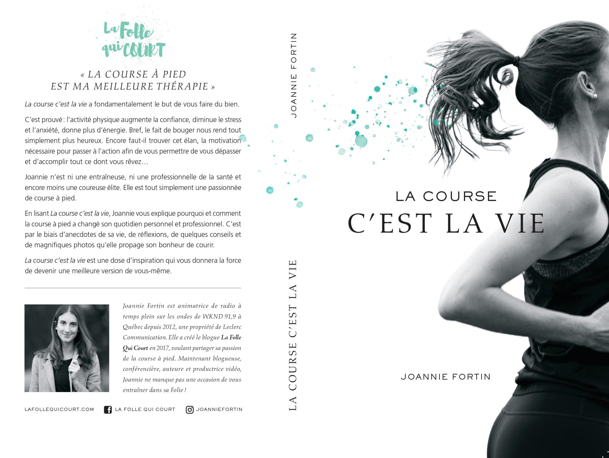 Couverture du livre La course c'est la vie de Joannie Fortin La Folle Qui Court