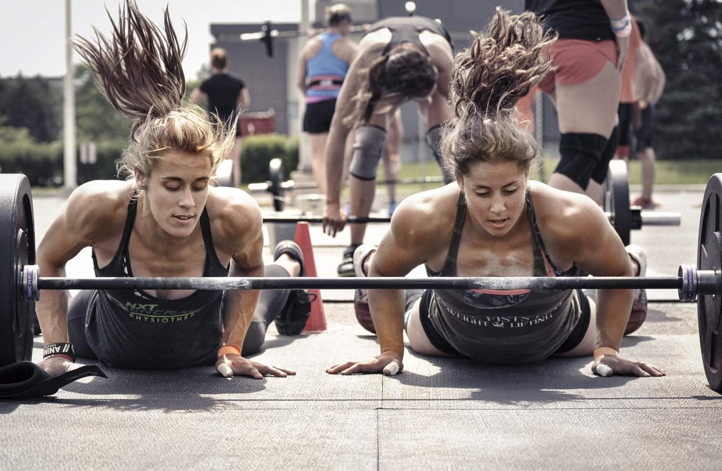 Chloe Gauvin-David et Maude Charron athlètes d'haltérophilie et de CrossFit