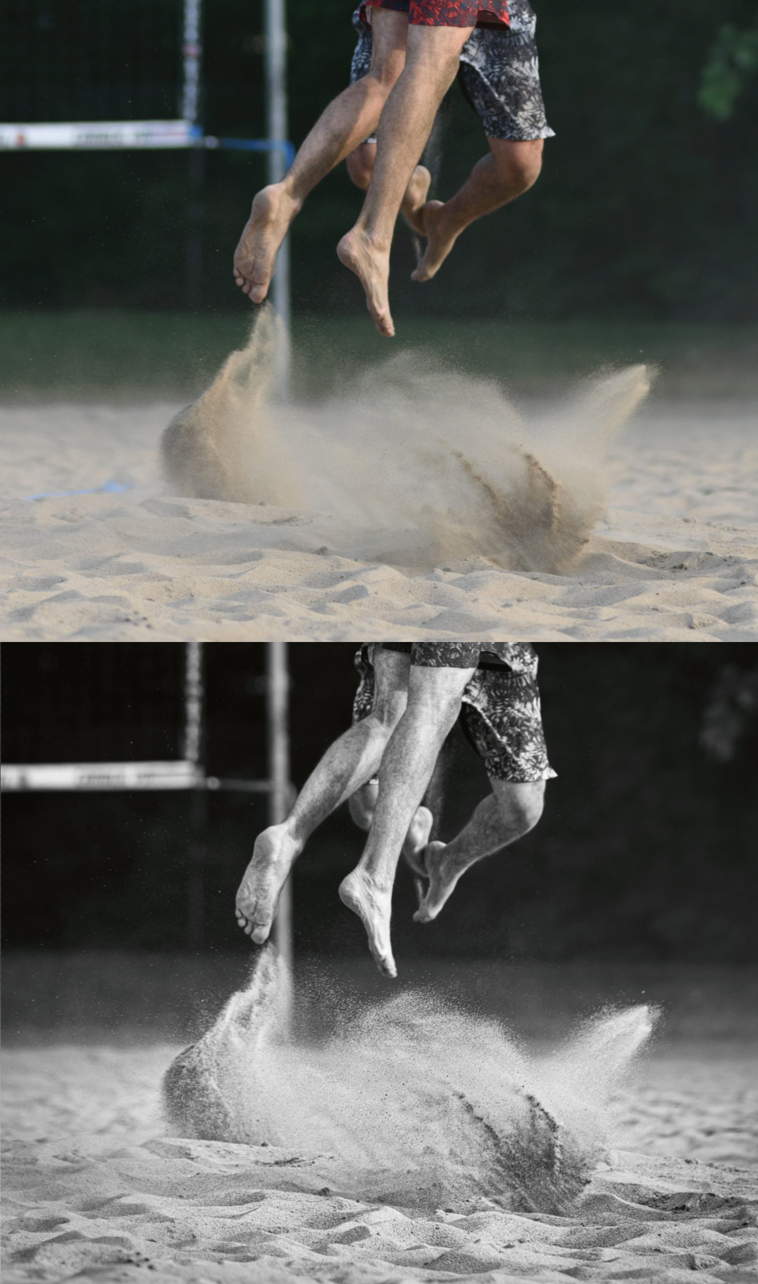Sublime N&B beach volley