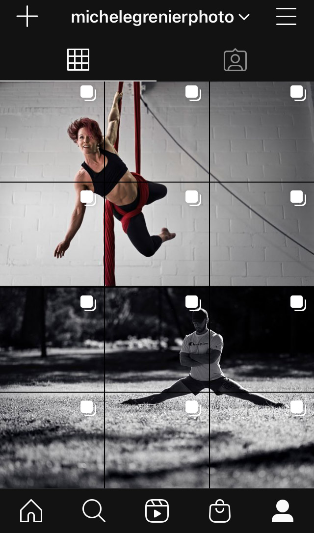 Exemple grille géante Instagram